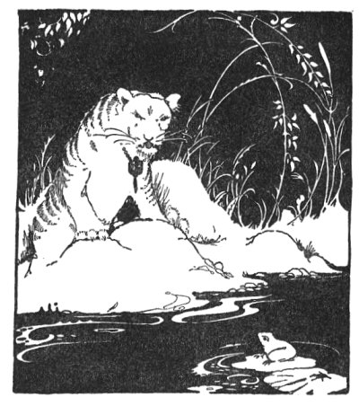 Illustration For The Tibetan Folk Tale The Tiger And The Frog